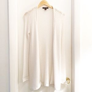 Tommy Bahama Open Knit Open Front Cardigan White